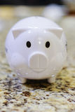 White coin box pig bank Stock Image