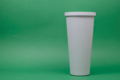 White Cold Saving Cup Royalty Free Stock Image