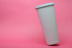 White Cold Saving Cup Royalty Free Stock Photo
