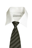 White collar. Isolated tie and white collar Royalty Free Stock Photo
