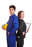 White collar and blue collar worker Royalty Free Stock Photos
