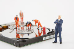 White collar businessman and workers Stock Photography