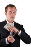 White collar corruption Stock Image