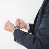 White collar crime Royalty Free Stock Images