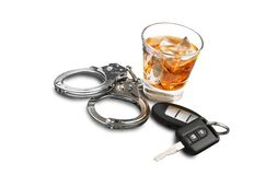 White Collar Crime. Handcuffs Arrest Business Law Guilt Legal System Royalty Free Stock Images