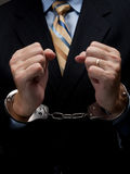 White collar criminal Stock Images
