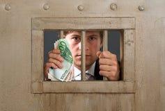 White collar criminal Stock Image