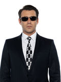 White collar criminal man portrait Stock Images
