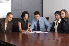 White collar environment stock images