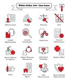 White Collar Job - Line Icons stock illustration