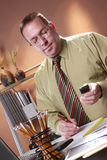 White collar workaholic Royalty Free Stock Photography