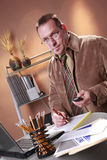 White collar workaholic Stock Images