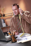 White collar workaholic Stock Image