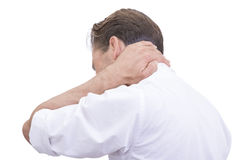 White collar worker with neck pain Royalty Free Stock Photography