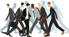 White collar workers Royalty Free Stock Images