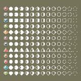 Collisions with gems for video games. White collision effects with gems for creating video games. Thirteen frames royalty free illustration