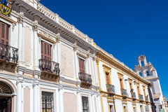 White Colonial Buildings Stock Images