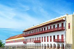 White Colonial Facade Royalty Free Stock Image