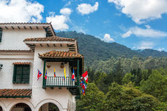 White Colonial Style Building in Bogota Stock Images
