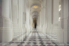 White colonnade in a church Royalty Free Stock Images