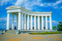 The white colonnade Royalty Free Stock Photo
