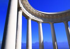 White colonnade Royalty Free Stock Photos