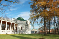 White colonnade with the wing rotunda Stock Photography