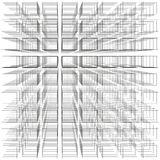 White color abstract infinity background, 3d structure with gray rectangles forming illusion of depth and perspective Royalty Free Stock Image
