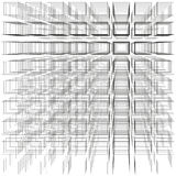 White color abstract infinity background, 3d structure with gray rectangles forming illusion of depth and perspective Royalty Free Stock Images