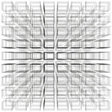 White color abstract infinity background, 3d structure with gray rectangles forming illusion  Stock Images