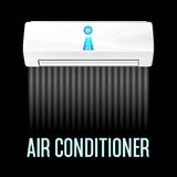 White color air conditioner machine Royalty Free Stock Photo