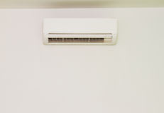 White color air conditioner machine isolated on white background Stock Image