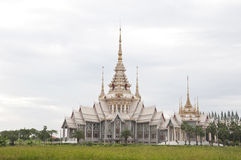 White color castle. In thailand with white sky Royalty Free Stock Image
