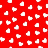 White color heart seamless pattern royalty free stock image