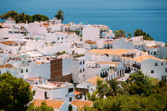White color houses in Nerja, Malaga Province Royalty Free Stock Photo