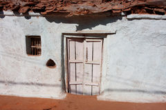 White color indian village house Royalty Free Stock Photos