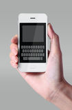 White color keyboard on smartphone. Stock Images