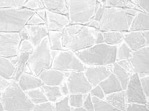 White color of modern style design decorative uneven cracked rea Stock Image