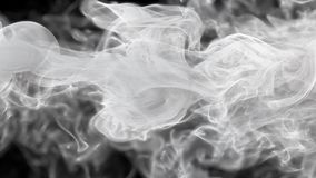 White color paint ink drops in water inky cloud swirling smoke alpha