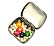 White and color pills Royalty Free Stock Images