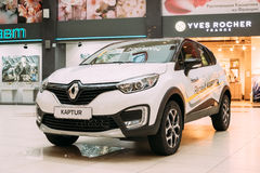 White Color Renault Kaptur Car Is The Subcompact Crossover In Ha Royalty Free Stock Photography