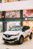 White Color Renault Kaptur Car Is The Subcompact Crossover In Ha Stock Photo
