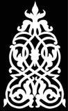White color symmetrical decoration Stock Photos