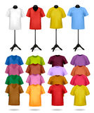 White and color t-shirts on mannequins. Vector Royalty Free Stock Images