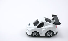White color toy car  Royalty Free Stock Photo
