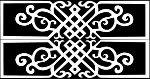 White color traditional pattern Stock Photo
