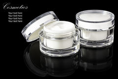 White colored blank cosmetic container for face cream moisturize Royalty Free Stock Photo