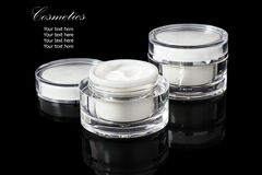 White colored blank cosmetic container for face cream moisturize Royalty Free Stock Image
