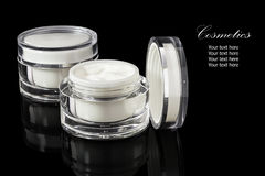 White colored blank cosmetic container for face cream moisturize Stock Image