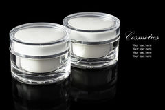 White colored blank cosmetic container for face cream moisturize Royalty Free Stock Photography